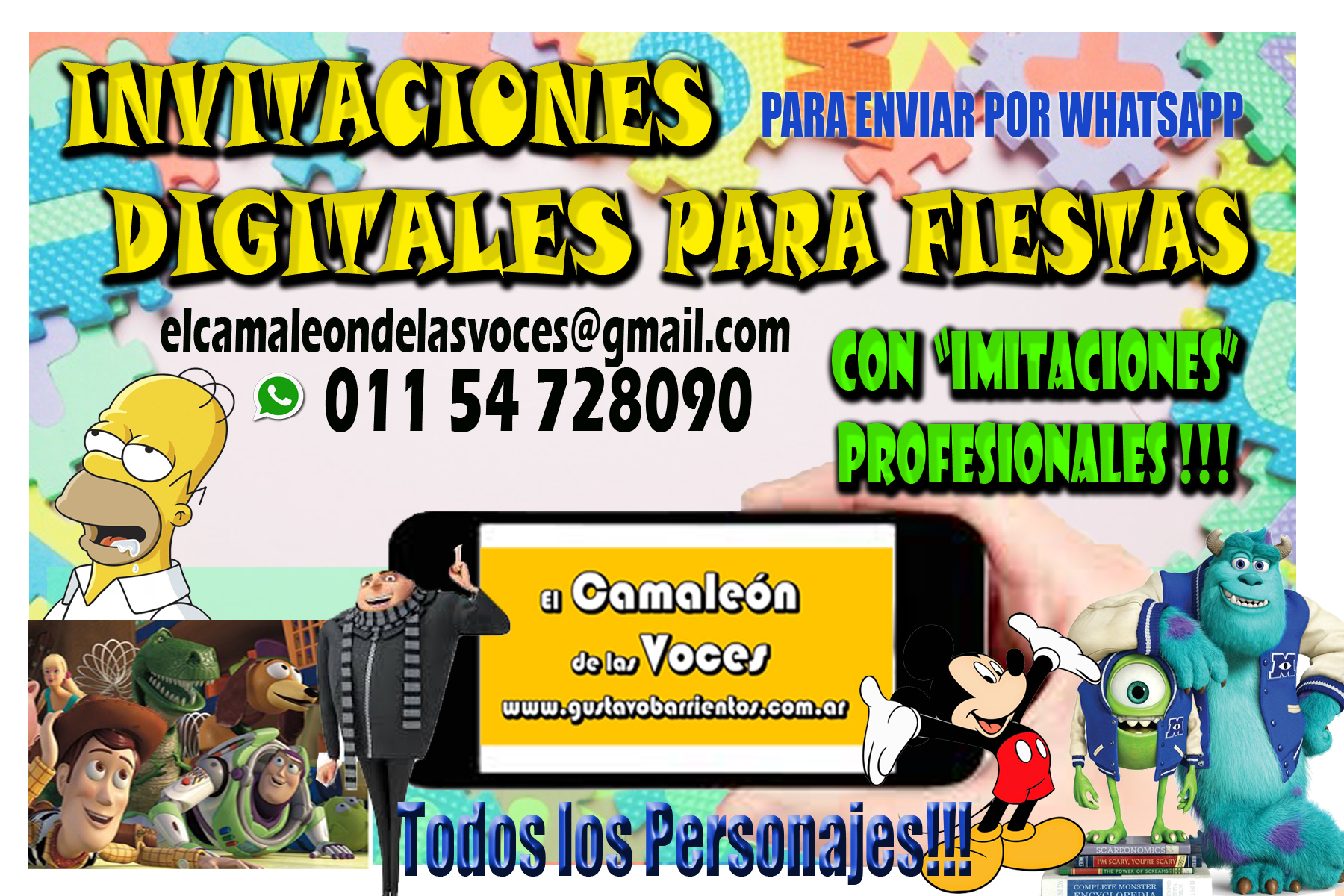 Video Invitaciones Camaleon